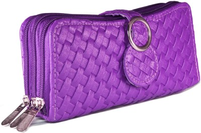 Magiq Women Casual Purple Artificial Leather Wallet