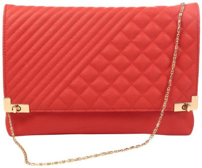 President Girls, Women Casual, Formal, Party Red  Clutch