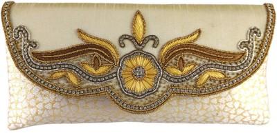 Anmita Wedding, Party, Festive Beige, Gold  Clutch