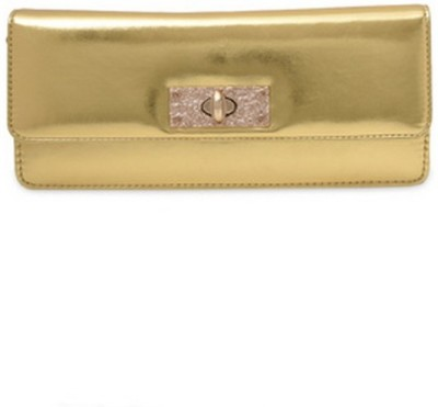 Tessa Moda Gold  Clutch