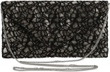 Samisha Women Party Black  Clutch