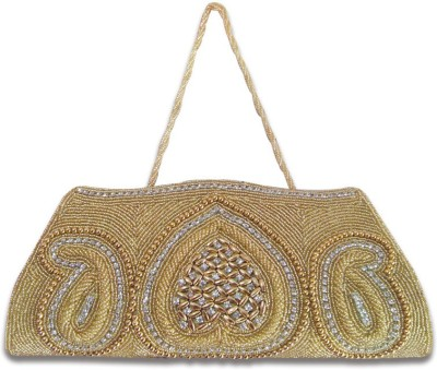 Linzina Wedding, Party, Festive Gold  Clutch