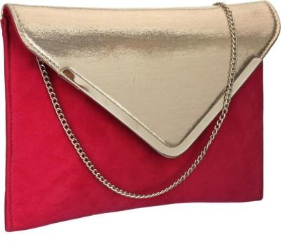 Contrast Women Wedding Red, Gold  Clutch