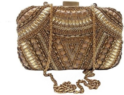 Uptown Laila Women Wedding Gold  Clutch