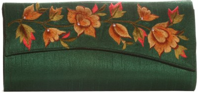 Soulful Threads Party Green  Clutch