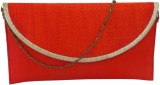 Bhamini Women Party Red  Clutch