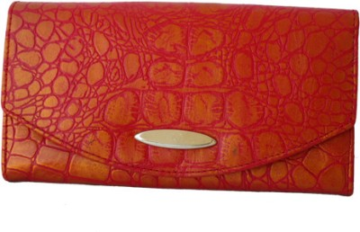 Klaska Women Casual Red, Gold  Clutch