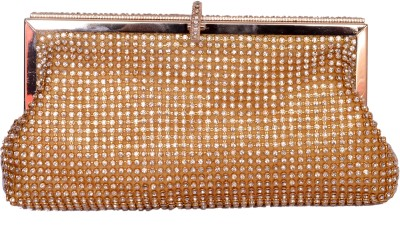 Tanishka Exports Girls Casual Gold  Clutch
