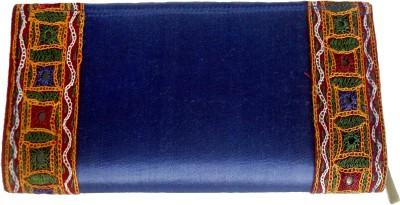 Sheela's Arts&Crafts Blue  Clutch
