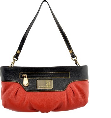 Second SKIN Women, Girls Casual, Festive, Formal, Party, Wedding Red  Clutch