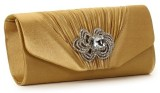 Eleegance Women Party Gold  Clutch