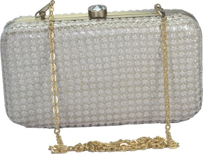 Arisha kreation Co Women Party Beige  Clutch