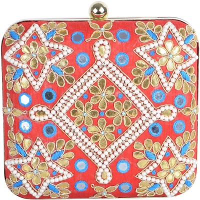 Uptown Laila Women Party Red  Clutch