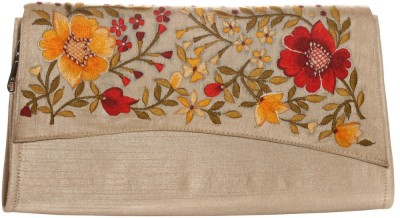 Soulful Threads Party Beige  Clutch