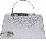 Zasmina Women Party Silver  Clutch