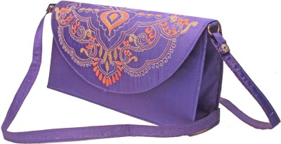 Slice Of Bengal Women Casual Purple  Clutch