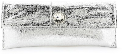Elligator Women Party Silver  Clutch