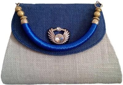 Avisha Creations Women Party, Wedding Blue  Clutch