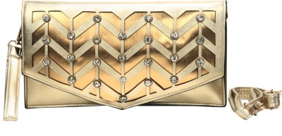 Luxury Living Casual, Party, Festive Gold  Clutch
