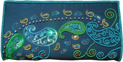 Spice Art Party Blue  Clutch