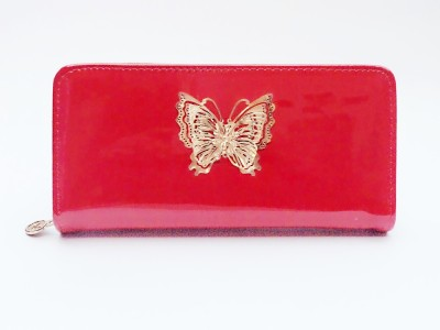 Bellina Wedding, Casual, Party, Formal, Sports, Festive Red, Gold  Clutch
