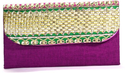 Arisha kreation Co Women Casual Purple  Clutch