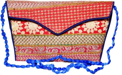 Sampoornam India Wedding, Party, Formal, Festive Red, Multicolor  Clutch