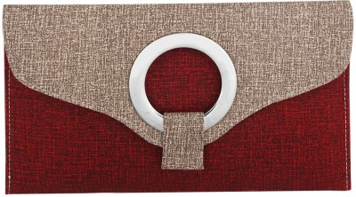 Gihaan Casual, Festive Red, Brown  Clutch