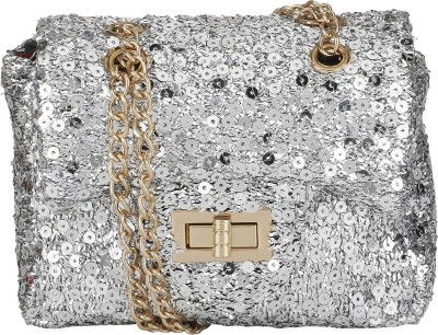 Bling It On Casual, Festive, Formal, Party, Wedding Silver  Clutch