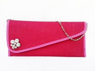Avisha Creations Women Party Pink  Clutch