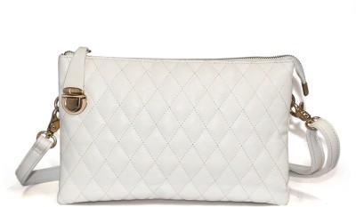 Fab Fashion Casual White  Clutch