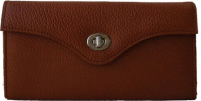 Klaska Women Casual Tan  Clutch