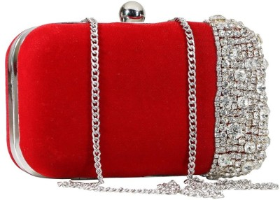 Sadaf Red  Clutch
