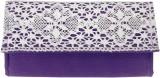 Avni Women Casual Purple  Clutch