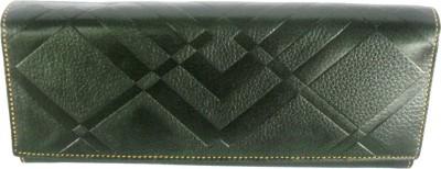 Sheela's Arts&Crafts Green  Clutch