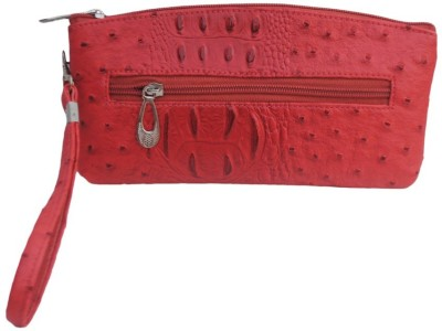 Modish Party Red Leatherette  Clutch