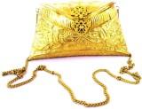 Hemshri Girls Casual Gold  Clutch