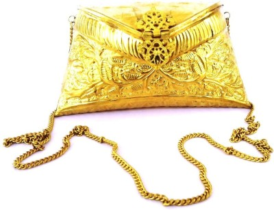 Hemshri Girls Casual Gold  Clutch