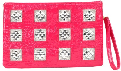 dazzler Casual, Party, Festive Pink  Clutch