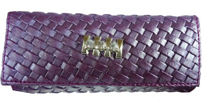 Modish Look Casual Purple  Clutch