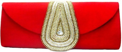 Anshul Fashion Red  Clutch