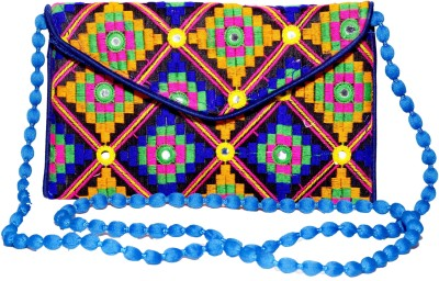 Sampoornam India Wedding, Casual, Party, Festive Black, Blue, Multicolor  Clutch
