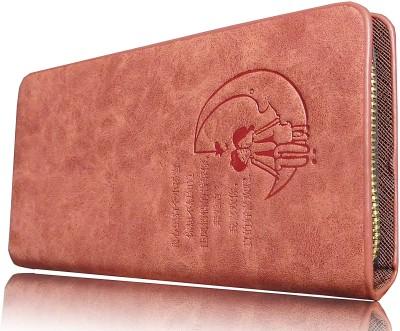 Samco Fas Girls, Women Orange Genuine Leather Wallet