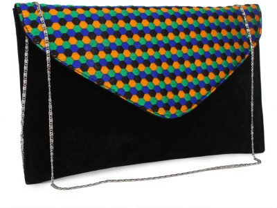 Do Bhai Women Party Black  Clutch