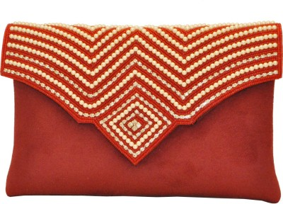 Women Trendz Festive Red  Clutch