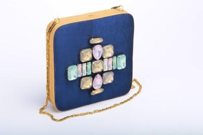 Silk&Sequins Women Formal Blue  Clutch
