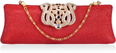 Aadi And Sons Women Festive, Casual Red  Clutch