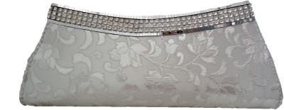 Modish Look Women Wedding Silver  Clutch