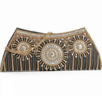 Aapno Rajasthan Women Party Black  Clutch