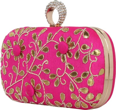 MGG Wedding, Party, Festive Pink, Gold  Clutch